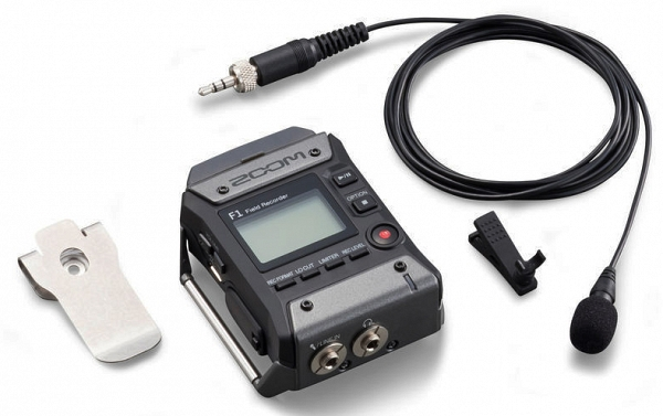 ZOOM Handy Recorders & Multi Track Recorder ZOOM F1-LP  Field Recorder and Lavalier Microphone Set
