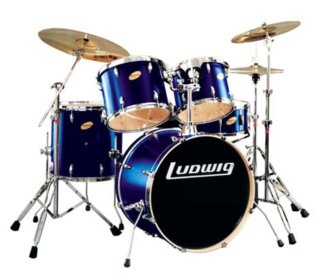 Ντράμς Ludwing LR-1325EC Accent Custom Power  Blue. Σέτ Ντράμς