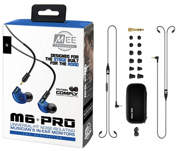 MEE Audio Ακουστικά in-ear M6PROG2 Blue UNIVERSAL MICROPHONE, REMOTE,VOLUME CONTROL