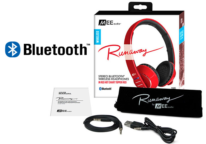 Ακουστικά in-ear και Headphone MEE Audio Ακουστικά Mee Audio RUNAWAY 4.0 AF-32 RED, STEREO BLUETOOTH, MICROPHONE, REMOTE, VOLUME CONTROL