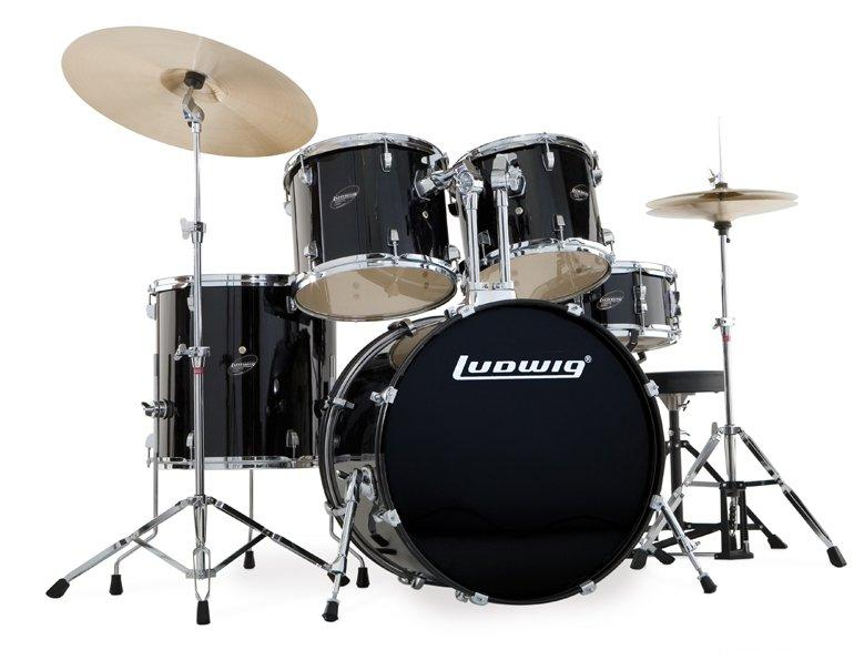 Ντράμς Ludwig LC-125 Accent Combo Power Black. Σέτ Ντράμς
