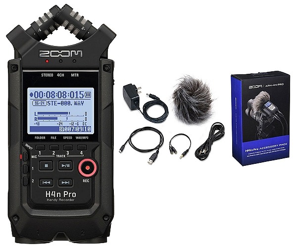 ZOOM Handy Recorders & Multi Track Recorder ZOOM H4N PRO BLACK Handy Recorder. Μαζί με το πακέτο APH-4N Accessory package.