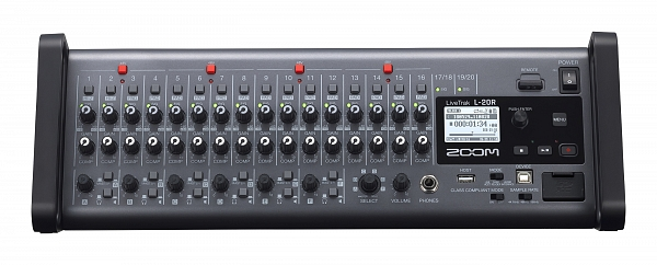 ZOOM Handy Recorders & Multi Track Recorder Zoom LiveTrak L-20R Rack Mountable Digital Mixer, Audio Interface and Recorder