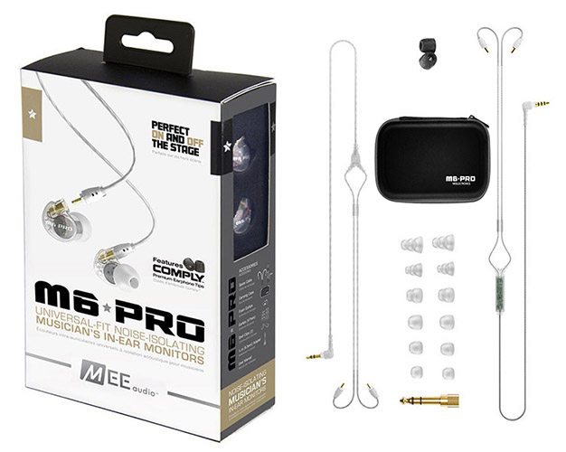 Ακουστικά in-ear και Headphone MEE Audio MEE Audio Ακουστικά in-ear M6PRO CLEAR UNIVERSAL MICROPHONE, REMOTE,VOLUME CONTROL