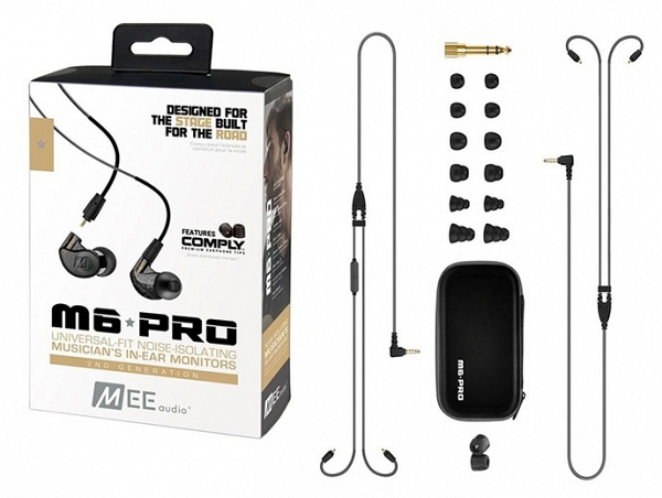 MEE Audio Ακουστικά in-ear M6PROG2 Black UNIVERSAL MICROPHONE, REMOTE,VOLUME CONTROL