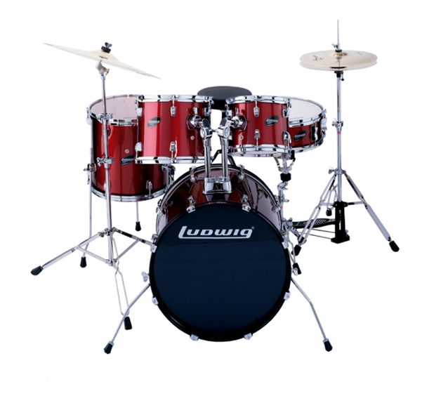 Ντράμς Ludwig LC-125 Accent Combo Power Wine Red. Σέτ Ντράμς