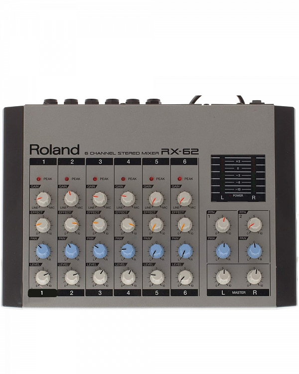 Roland Discontinued Vintage Products Roland RX-62 6 Channel Stereo Line  Mic Mixer