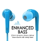 MEE Audio Ακουστικά in-ear RX18P BLUE MICROPHONE-REMOTE, Enhanced Bass