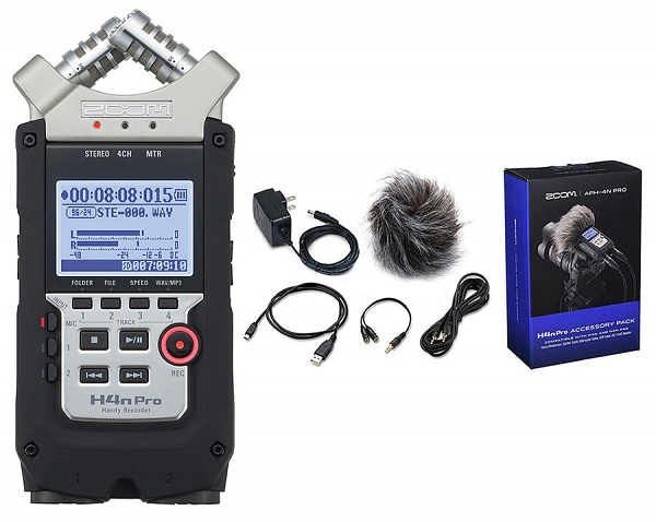 ZOOM Handy Recorders & Multi Track Recorder ZOOM H4N PRO Handy Recorder. Μαζί με το πακέτο APH-4N Accessory package.