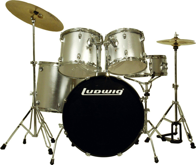 Ντράμς Ludwig LC-125 Accent Combo Power Silver. Σέτ Ντράμς