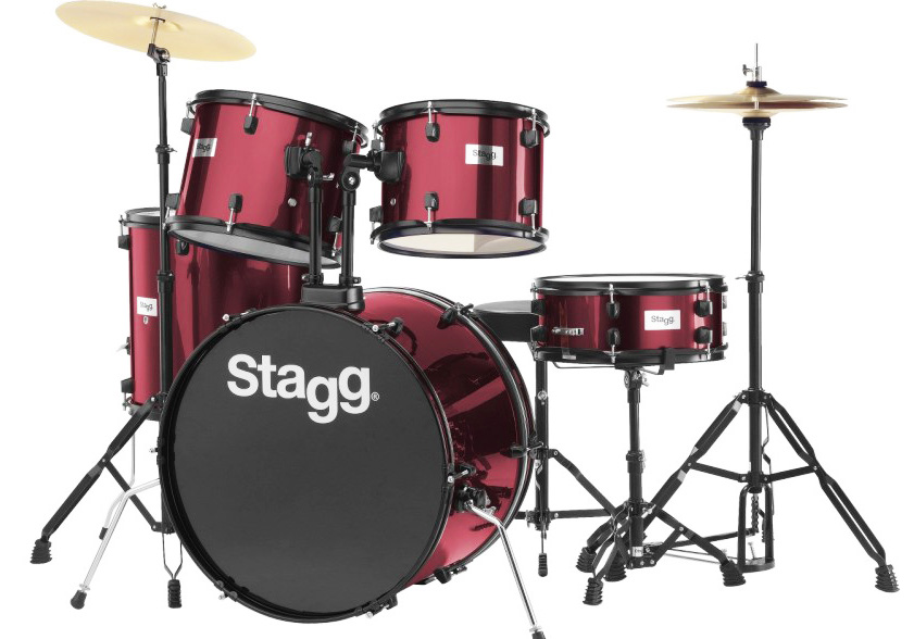 Σέτ Ντράμς STAGG TIM-122B Wine Red