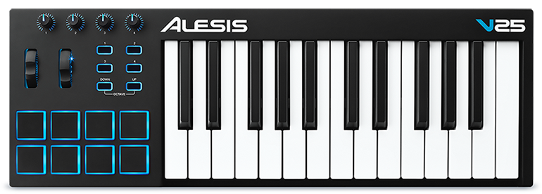 ALESIS V-25  Midi Keyboard Full-Side πλήκτρα USB