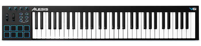 ALESIS V-61 Midi Keyboard full-sized πλήκτρα και USB