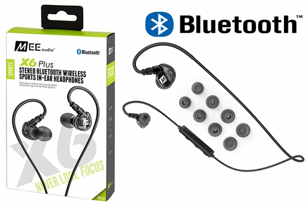 MEE Audio Ακουστικά in-ear X6 PLUS Black. STEREO BLUETOOTH,  MICROPHONE, REMOTE,VOLUME CONTROL
