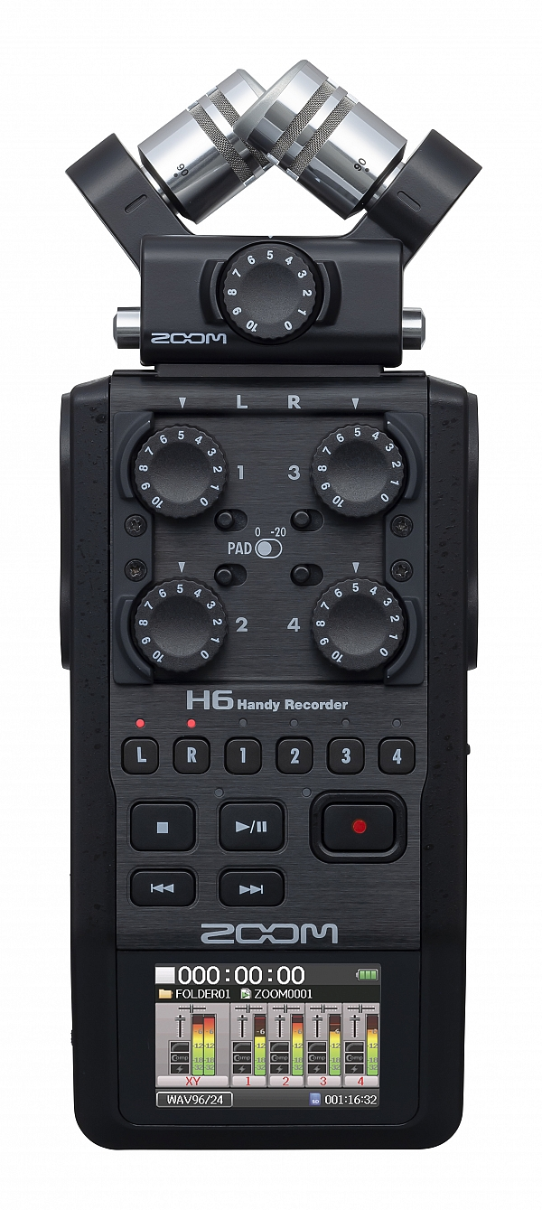 ZOOM Handy Recorders & Multi Track Recorder Zoom H6 Black Handy Recorder