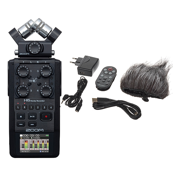 ZOOM Handy Recorders & Multi Track Recorder ZOOM H6 Black Handy Recorder Μαζί με το πακέτο APH-6 Accessory package
