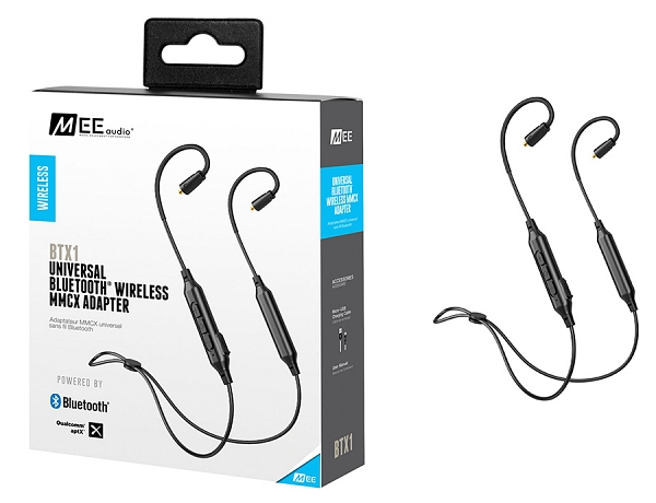 MEE Audio καλώδιο BTX1 BLACK BLUETOOTH WIRELESS UNIVERSAL MMCX ADAPTER CABLE