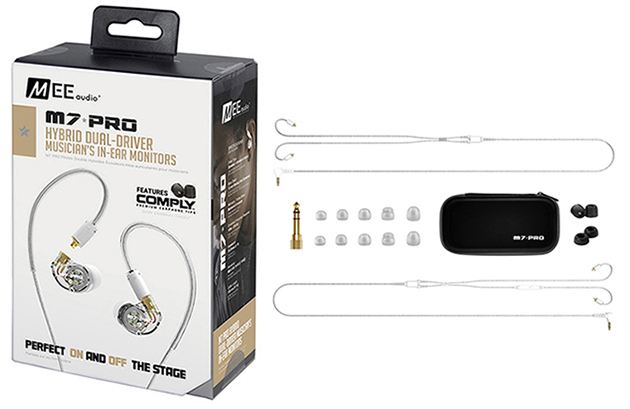 Τεχνολογία - Αξεσουάρ MEE Audio Ακουστικά in-ear M7PRO CLEAR DUAL-DRIVER UNIVERSAL MICROPHONE, REMOTE,VOLUME CONTROL