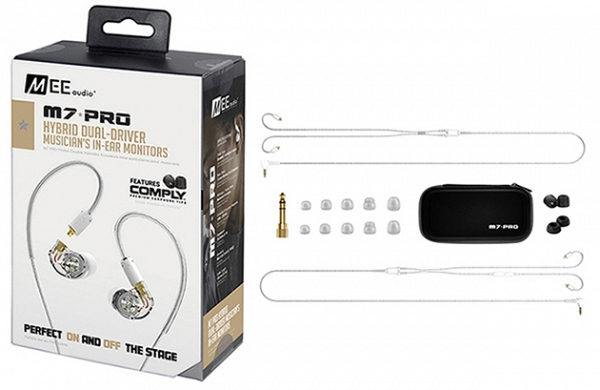 MEE Audio Ακουστικά in-ear M7PRO CLEAR DUAL-DRIVER UNIVERSAL MICROPHONE, REMOTE,VOLUME CONTROL