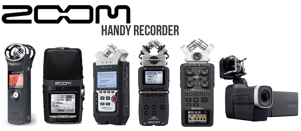 ZOOM Handy Recorders & Multi Track Recorder