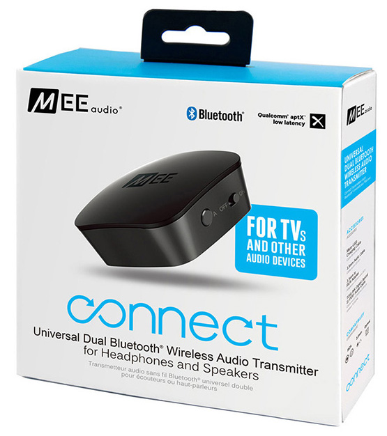 Aσύρματη μετάδοση ήχου Bluetooth.  MEE Wireless Audio Transmitter AF-T1-BK-MEE.