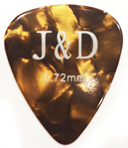 MEDIUM Πέννα κιθάρας Jack and Danny 0,72mm, Brown Celluloid