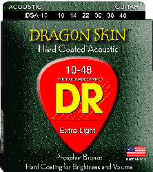 DR DRAGON SKIN DSA-10(10-48) The Invisible Gold Coating Phosphor Bronze Σετ Χορδές ακουστικής κιθάρας