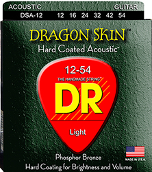DR DRAGON SKIN DSA-12(12-54) The Invisible Gold Coating   Phosphor Bronze Σετ Χορδές ακουστικής κιθάρας