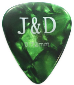 MEDIUM Πέννα κιθάρας Jack and Danny 0,72mm, Greeen  Celluloid