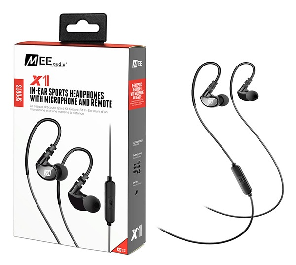 MEE Audio Ακουστικά in-ear X1 BLACK IN-EAR SPORTS, MICROPHONE, REMOTE
