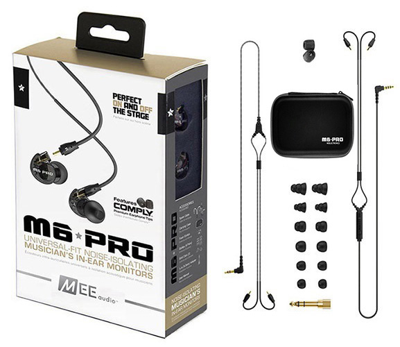 Ακουστικά in-ear και Headphone MEE Audio MEE Audio Ακουστικά in-ear M6PRO Black UNIVERSAL MICROPHONE, REMOTE,VOLUME CONTROL