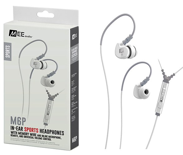 Ακουστικά in-ear και Headphone MEE Audio MEE Audio Ακουστικά in-ear M6P2-WH-MEE, MICROPHONE, REMOTE,VOLUME CONTROL