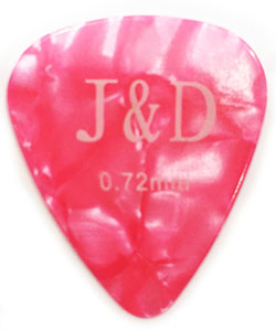 MEDIUM Πέννα κιθάρας Jack and Danny 0,72mm, Pink Celluloid