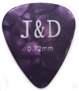 MEDIUM Πέννα κιθάρας Jack and Danny 0,72mm, Purple Celluloid