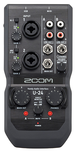 ZOOM Ψηφιακές συσκευές εγγραφής φωνής, Handy Recorders,Video-cameras ZOOM U-24 Handy Audio Interface