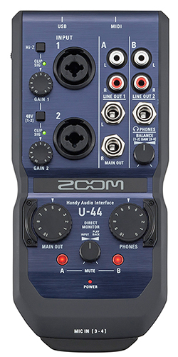 ZOOM Ψηφιακές συσκευές εγγραφής φωνής, Handy Recorders,Video-cameras ZOOM U-44 Handy Audio Interface