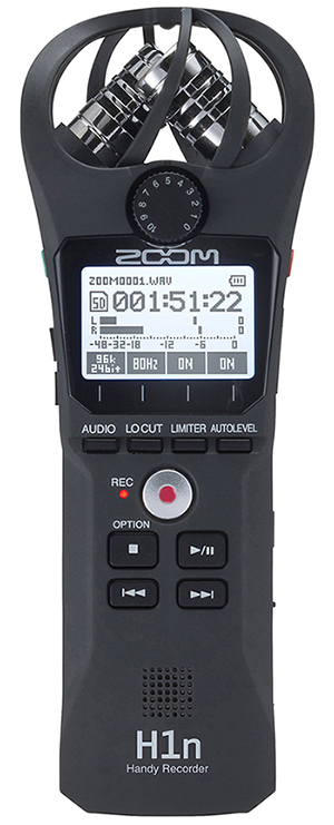 ZOOM Handy Recorders & Multi Track Recorder ZOOM H1n  Digital Recorder Stereo Handy. Just Press Record